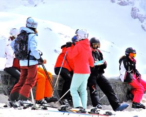 dressing for the part as a young skier is incredibly beneficial when teaching them to ski