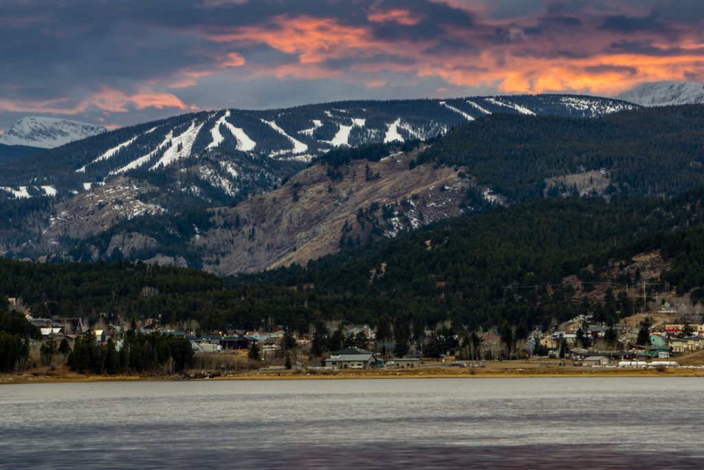 Eldora Mountain sits as a backdrop to scenic Nederland and the Barker Meadow Reservoir. Skiing at Eldora is only 50 miles from metro Denver.