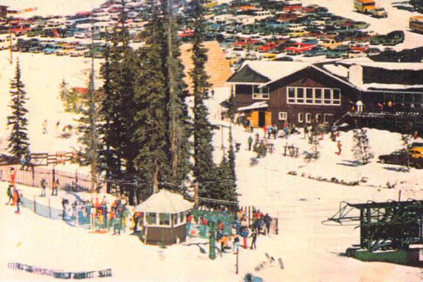 Geneva Basin saw big snow and a steady stream of skiers over the years, but numerous changes in ownership eventually led to its downfall. (Photo coloradoskihistory.com)