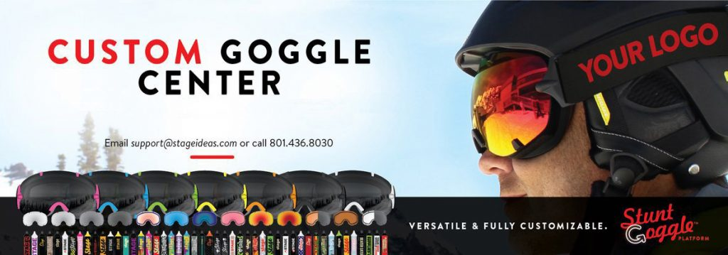Get your logo on a high-quality pair of ski goggles with this deal through Stage Ideas.