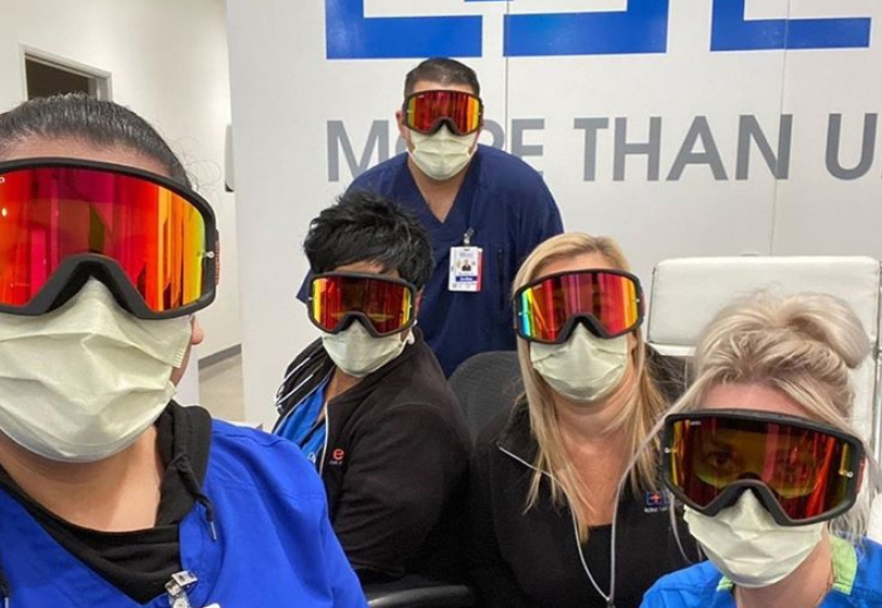 Doctors around the nation can use your old ski goggles at the hospital to protect essential staff from COVID-19. (Photo courtesy GogglesforDocs.com)